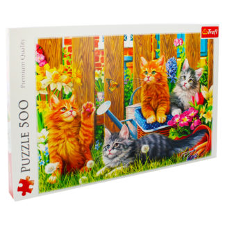 Product shot Kittens In The Garden 500 Piece Jigsaw Puzzle