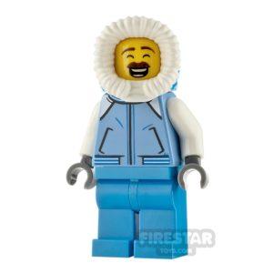 Product shot LEGO City Minfigure Sweeper Medium Blue Jacket
