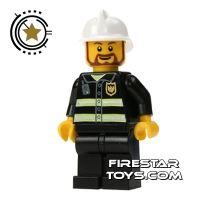 Product shot LEGO City Mini Figure – Fireman Brown Beard