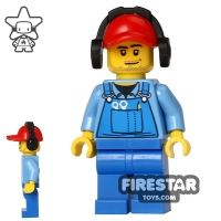 Product shot LEGO City Mini Figure - Cargo Worker - Headphones