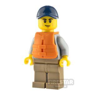 Product shot LEGO City Minifigure Kayaker with Life Jacket