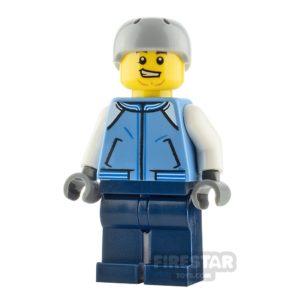 Product shot LEGO City Minifigure Snowboarder Medium Blue Jacket