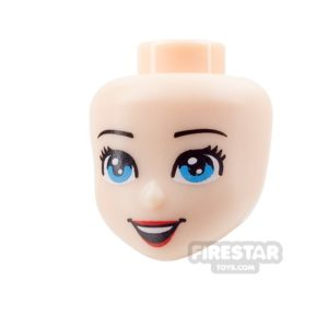 Product shot LEGO Disney Princess Mini Figure Heads - Blue Eyes and Open Smile