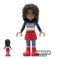 Product shot LEGO Friends Mini Figure - Andrea - Sweater and Red Shirt