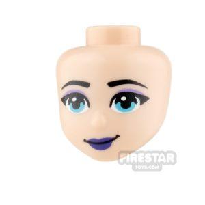 Product shot LEGO Friends Minifigure Heads  Dark Purple Lips