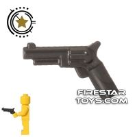 Product shot LEGO Gun - Revolver - Pearl Dark Gray