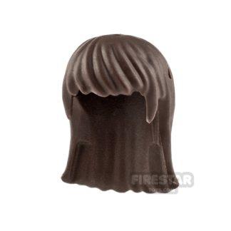 Product shot LEGO Hair - Long Straight - Dark Brown