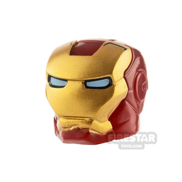 Product shot LEGO Iron Man Mask Bright Light Blue Eyes