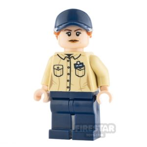 Product shot LEGO Jurassic World Figure Female Park Worker