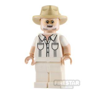 Product shot LEGO Jurassic World Figure John Hammond