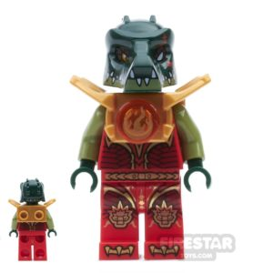 Product shot LEGO Legends of Chima Mini Figure - Cragger - Fire Chi Armour
