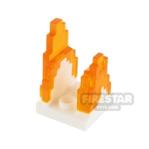 Product shot LEGO Minecraft Flame Stand