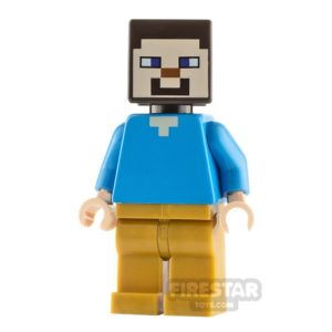 Product shot LEGO Minecraft Minifigure Steve Pearl Gold Legs