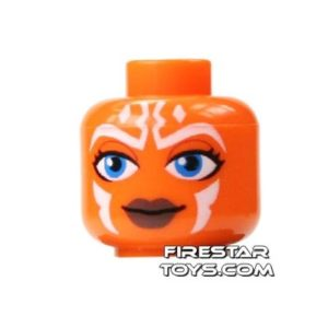Product shot LEGO Mini Figure Heads - Ahsoka