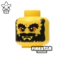 Product shot LEGO Mini Figure Heads - Angry Face