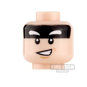 Product shot LEGO Mini Figure Heads - Batman - Alfred - Smile/Frown