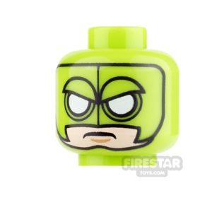 Product shot LEGO Mini Figure Heads - Batman - Killer Moth