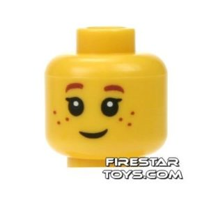 Product shot LEGO Mini Figure Heads - Big Eyes and Freckles