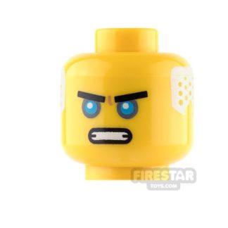 Product shot LEGO Mini Figure Heads - Ninjago - Dark Azure Eyes