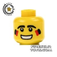 Product shot LEGO Mini Figure Heads - Red Indian