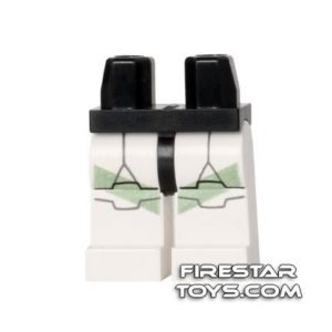 Product shot LEGO Mini Figure Legs - Clone Trooper - Green Markings