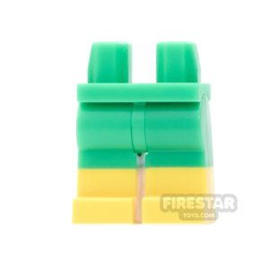 Product shot LEGO Mini Figure Legs - Doc Ock - Bright Green  with Yellow Boots