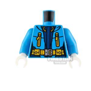 Product shot LEGO Mini Figure Torso - Arctic Explorer Jacket - Dark Azure
