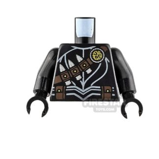 Product shot LEGO Mini Figure Torso - Bandolier with Owl Logo
