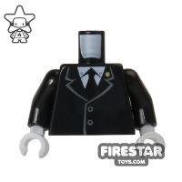 Product shot LEGO Mini Figure Torso - Black Suit