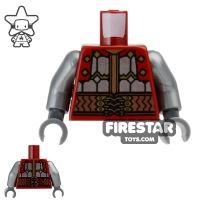 Product shot LEGO Mini Figure Torso - Dain Ironfoot - Silver Armour