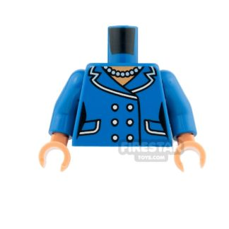 Product shot LEGO Mini Figure Torso - Female Suit Jacket with Buttons and Necklace