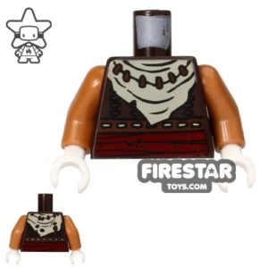 Product shot LEGO Mini Figure Torso - Fox - White Bandana