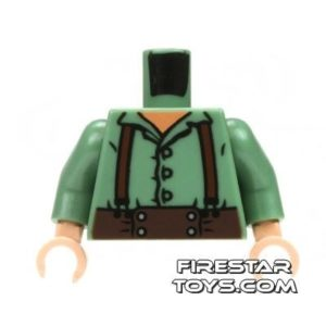 Product shot LEGO Mini Figure Torso - Frodo - Green Shirt