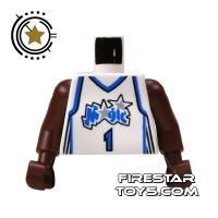 Product shot LEGO Mini Figure Torso - NBA Orlando Magic - Player 1