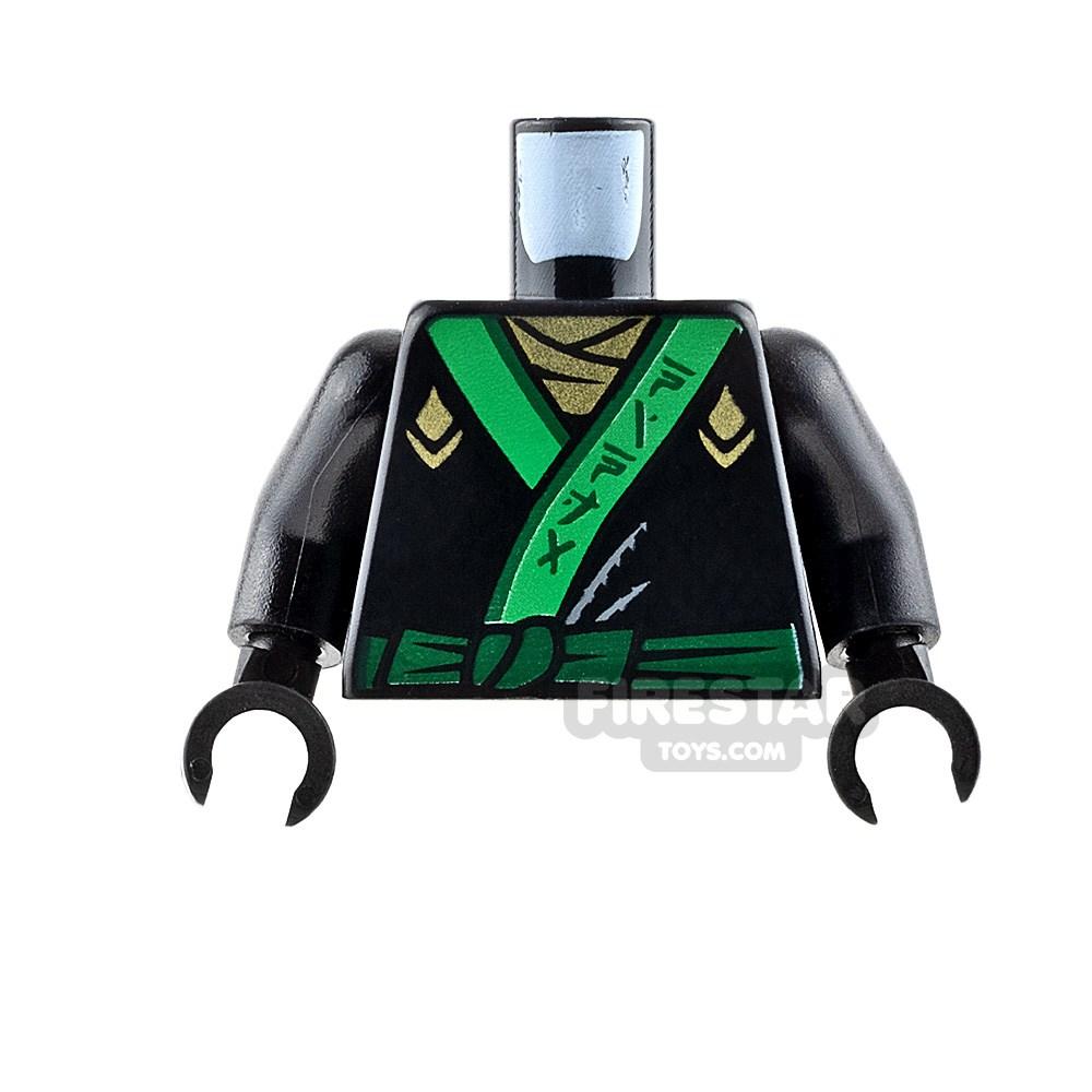 Product shot LEGO Mini Figure Torso - Ninja Robe with Green Sash