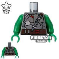 Product shot LEGO Mini Figure Torso - Teenage Mutant Ninja Turtles - Raphael Armour