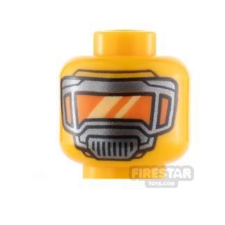 Product shot LEGO Minifigure Heads Mask with Orange Visor