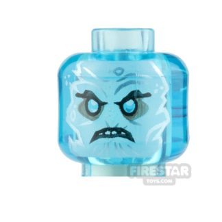 Product shot LEGO Minifigure Heads Scowl with Ponytail