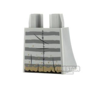 Product shot LEGO Minifigure Legs Curved Skirt Prison Stripes