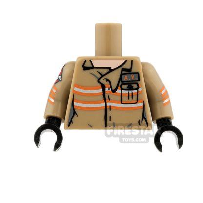 Product shot LEGO Minifigure Torso Ghostbusters Jumpsuit Abby Yates