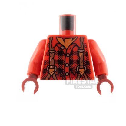 Product shot LEGO Minifigure Torso Plaid Flannel Shirt