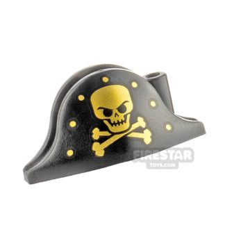 Product shot LEGO - Pirate Hat - Gold Skull and Crossbones