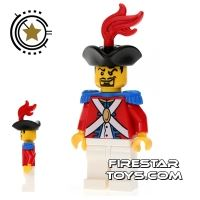Product shot LEGO Pirate Mini Figure - Imperial Soldier II - Officer 1