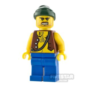 Product shot LEGO Pirate Minifigure Pirate Vest and Anchor Tattoo