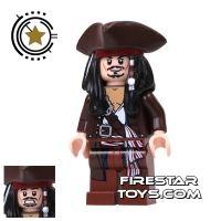 Product shot LEGO Pirates Of The Caribbean Mini Figure - Captain Jack Sparrow - Tricorne
