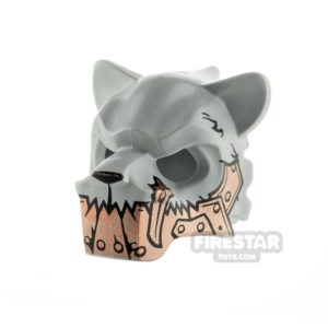Product shot LEGO - Saber-Tooth Tiger Headcover - Copper Armour