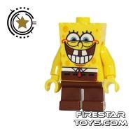 Product shot LEGO Spongebob Minifigure Spongebob Toothy Grin