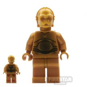 Product shot LEGO Star Wars Mini Figure - C-3PO Dark Gold