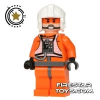 Product shot LEGO Star Wars Minifigure Zev Senesca Plain Helmet