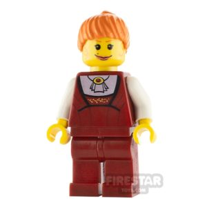 Product shot LEGO Studio Mini Figure -  Female With Red Outfit